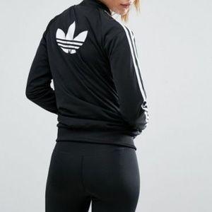 adidas Originals Black Three Stripe Bomber Jacket